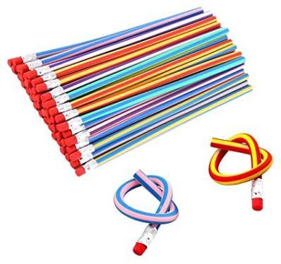 striped bendy pencil